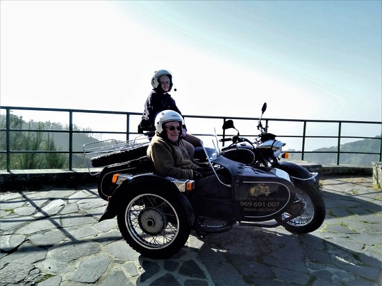 3-Hour Madeira Scenic Island Tour (Price per Sidecar - 1 or 2 passengers): A short break to admire the view on the way up towards the Nuns Valley