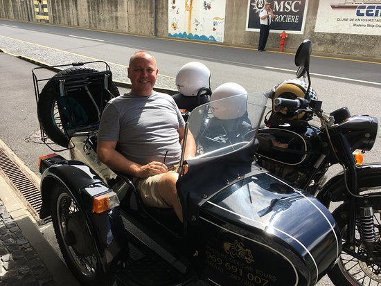 3-Hour Madeira Scenic Island Tour (Price per Sidecar - 1 or 2 passengers): Door to door trip with loads of information and a great local bar
