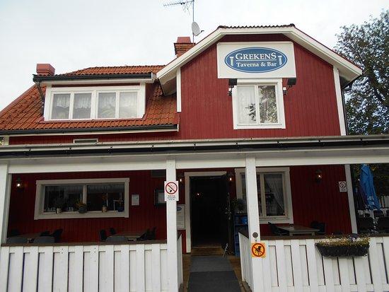 Knivsta, Suecia: 茶色の板壁が目印です