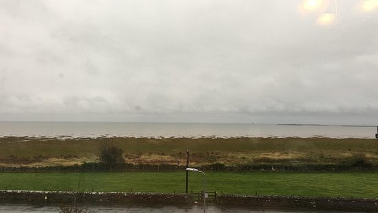 Rampside, UK: Miserable morning when I took the photo, but the view from our bedroom window.