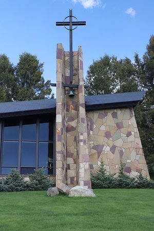 St. Timothy's Chapel: The cross stands out!