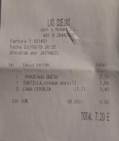 Las Quejas: Ticket