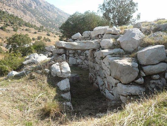 Steiri, Греция: Θολωτός τάφος στην ακρόπολη του Φωκικού Μεδεώνα, στον λόφο των Αγίων Θεοδώρων όπου και το ομώνυμο εκκλησάκι στην κορυφή.