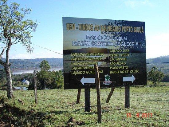 Alecrim, RS: Beira do Rio Uruguai.
