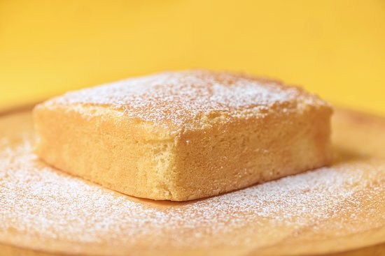 Our soft and moist Butter Cake goes perfectly with a cup of tea