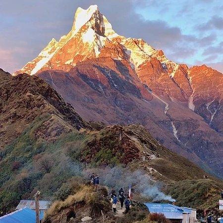 Chame, Nepal: Beautiful Mardi Himal