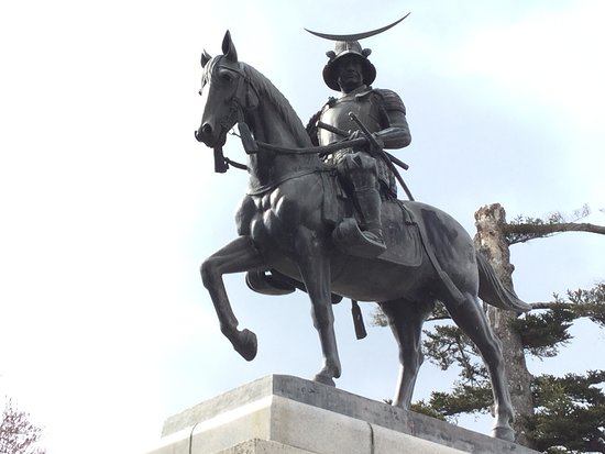 Statue of Date Masumune on a Horse