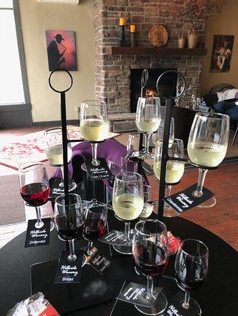 Ottawa, OH: Various wine flights at Hillside Winery