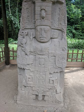Stella of Kak' Tiliw Chan Yopaat, ruler of Quirigua who captured and killed his father, 18 Rabbit, ruler of Copan.