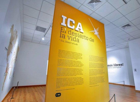 Pisco, Pérou : Sala de exhibición, una de la zonas turisticas de Ica