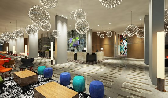 Bright and airy lobby