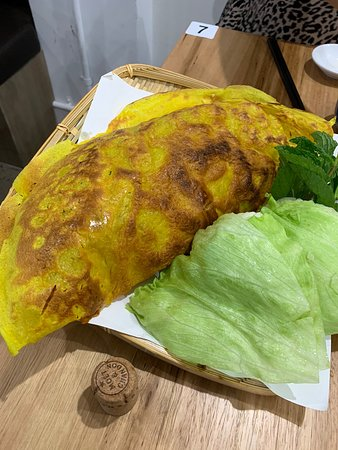 Caution! The Vietnamese pancake is HUGE!