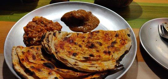 Dhaba Estd 1986: Mirchi paratha with gravy dishes