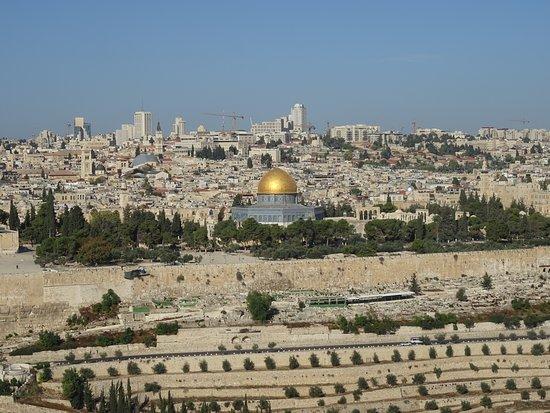 la Vieilleville de Jérusalem depuis le Mont des Oliviers