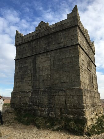 Rivington Pike at the top