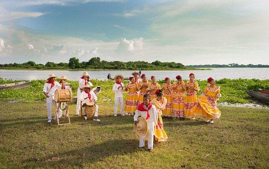 Cesar Department, Colombia: Grupo de Tamboras de Chimichagua, a orillas de la Ciénaga de Zapatosa.
