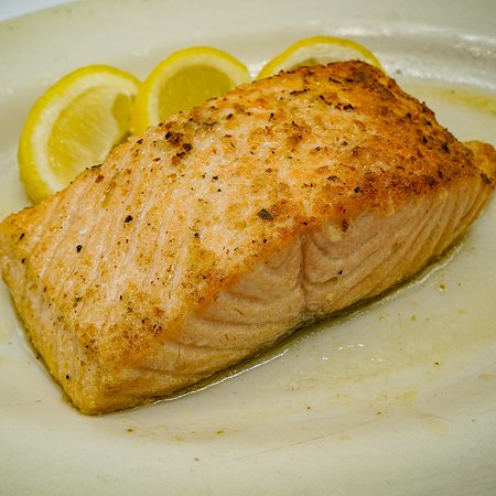 Salmon Filet, At our Coach House Diner and Restaurant, open 24/7, over 100 parking spots available and great Bar, New York Style. You will enjoy our familiar and cozy style.