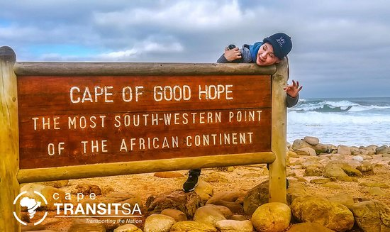 Cape Town, Sør-Afrika: Photo taken of one of our guests at CAPE OF GOOD HOPE.