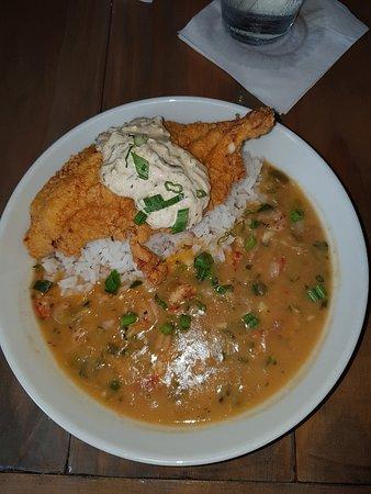 Eliza Restaurant & Bar: Catfish Fillet with Crawfish Etouffee