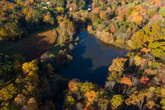 Check out the aerial photograph of Preston Park's Loch Carrie. Thank you JBaron Photography for the awesome image!