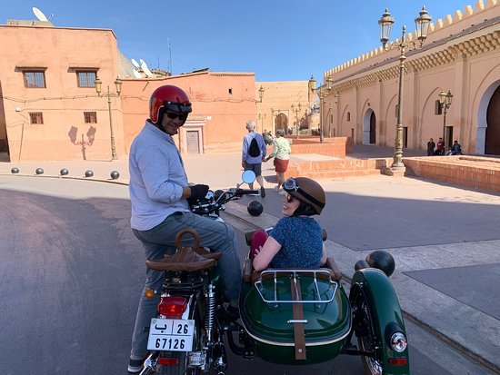 Private sidecar ride : Best of Marrakech 1.5h Resmi