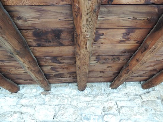 Engolasters, Andorra: timber porch ceiling