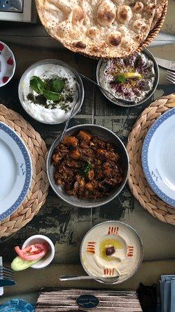 Khaneen Restaurant murouj branch: Our breakfast spread.
