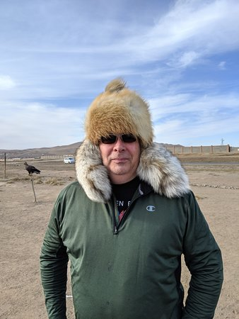 Genghis Khan Day Tour with Gorkhi-Terelj National Park: Hat purchased at roadside stand.  Never would have been able to pull it off without the tour guide.