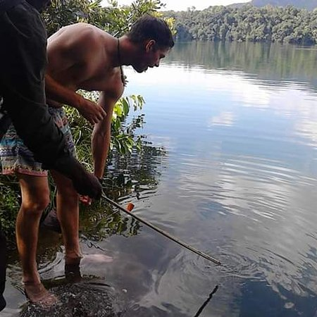 Западный регион, Уганда: It's possible to do spot fishing with lenard uganda safaris So interesting activity #visit rubirizi crater lakes in the Western uganda and get a chance to see twin lakes not one pair but two pairs of twin lakes