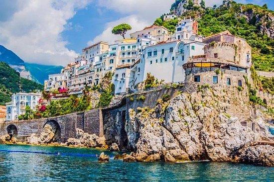 Amalfi Coast collective tour from Praiano Marina di Praia: Emerald grotto and Amalfi Coast collective tour from Praiano Marina di Praia 