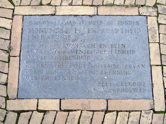 Monument tegen apartheid en racisme