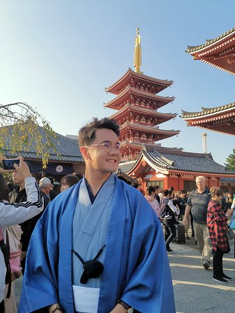 Me wearing a kimono I got from Kimonokan
