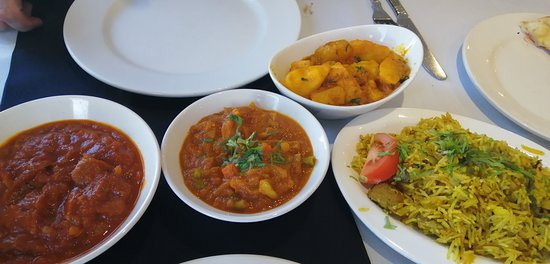 I had the lamb byriani, Mike the lamb pathia, all super yummy.   Too much so Shah very kindly gave us a doggy bag Mx