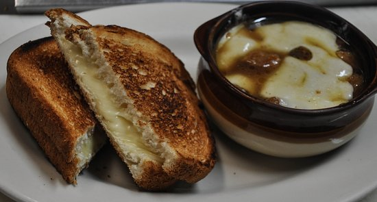 West Forks, ME: Grilled cheese, and french onion soup!