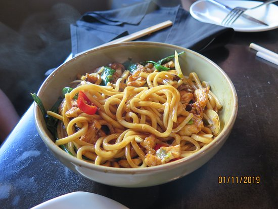 P.F. Chang's: Chicken udon noodles