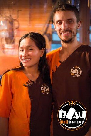 The restaurant staff, Vietnam Mui Ne. Italian cuisine, pizzeria