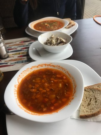 Aukstadvaris, Litauen: Solyanka and goulash