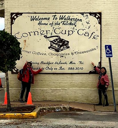 The first view of Corner Cup Cafe when we entered Walkerton