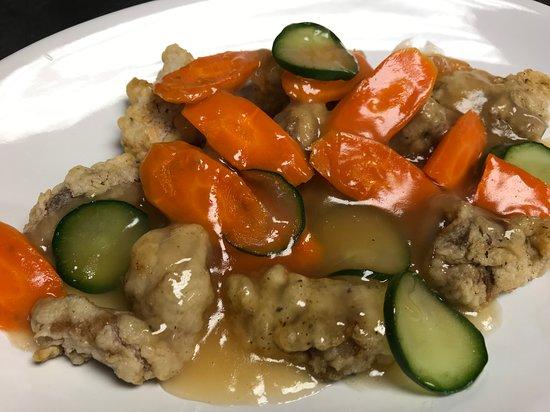 Tang-soo-yook(fried pork with sweet & sour sauce)