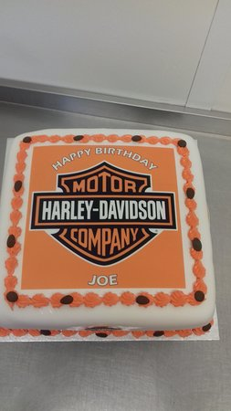 Fabulous Very Good Harley Davidson Birthday Cake Made For A Fan Of These Funny Birthday Cards Online Elaedamsfinfo