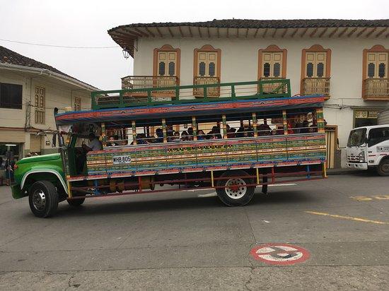 Transport scolaire Aguadas, Caldas, Colombie