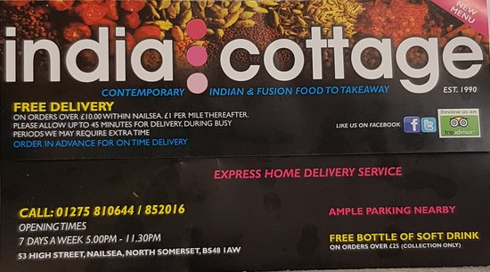 India Cottage Take Away Nailsea Updated 2020 Restaurant