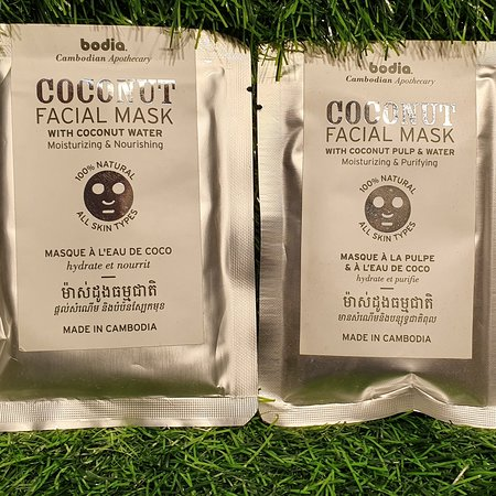 Facial mask from coconut  Do you like it . #tour  #travel  #souvenir