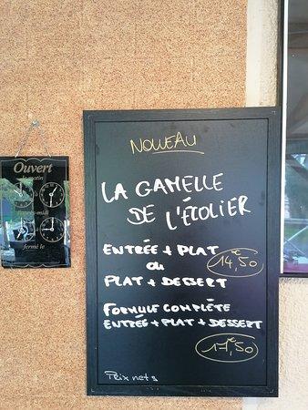 Quetteville, Fransa: NOUVEAU !!! Le restaurant vous propose désormais un menu uniquement servi le midi du mardi au vendredi