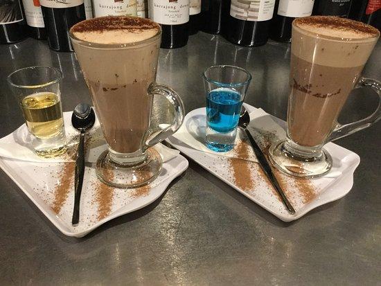 Gourmet liqueur hot chocolates...