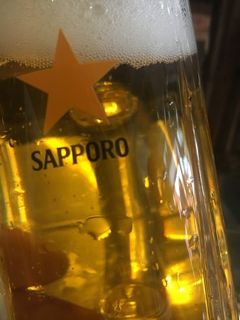 Refreshing Sapporo on tap