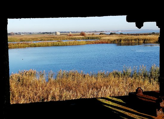 Bawdsey, UK: View from the War time observation tower East Lane