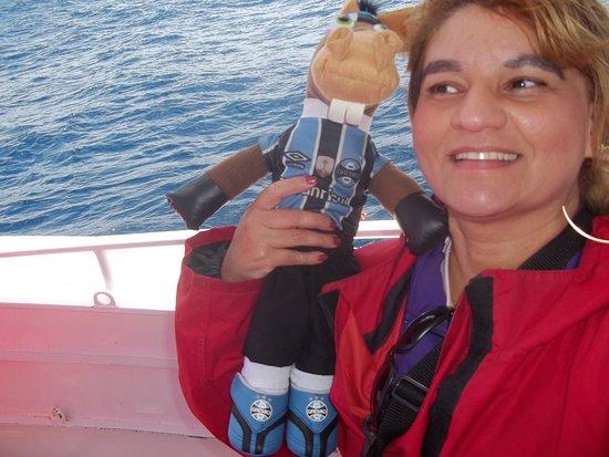 جنوب المحيط الهادئ: Momento que o barco parou sobre as águas oceânicas para observação da baleia que saltava.