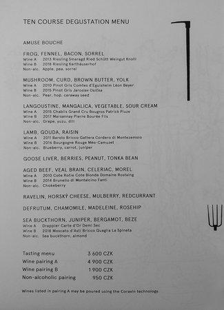 Menú degustación de diez platos