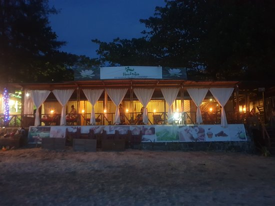 Ngapali, Birma: Front view at night